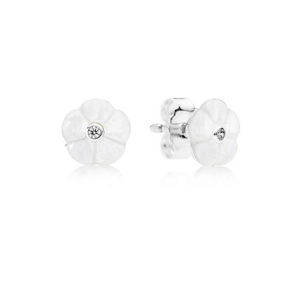 luminous floral earring studs